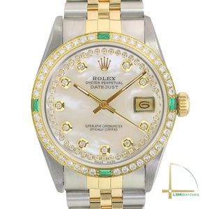 Rolex Datejust Two-Tone String White MOP Watch